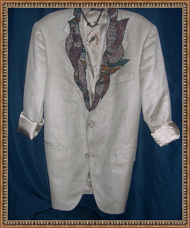 Famous Maker's Blazer Embellished by Fiber Artist