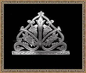 Vintage Signed WA Antique Art Nouveau Victorian Silver Pin