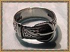 "Vintage Sterling Silver Buckle Ring ""P & FJ"" Hallmarks"