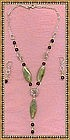 Signed Sterling Silver Necklace Demi Amethyst Gems