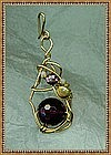 Pendant Amethyst Pearls Opals Rolled Gold