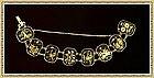 Amita Damascene Bracelet 8 Multi Figural Links Cranes