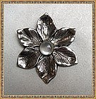 Vintage Signed PARENTI STERLING Pin Brooch Moonstone
