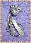 Vintage Napier Sterling Fur Clip Large - Double M