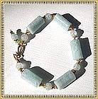 MIMI DEE Gold Vermeil Aquamarine Sapphire Bracelet