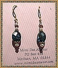 MIMI DEE 22K Vermeil Earrings Kyanite Pink Sapphire