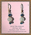 22K Vermeil Earrings Aquamarine Apatite by MIMI DEE