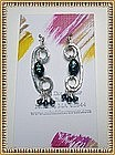 Signed Sterling Silver Studio Earrings by MIMI DEE