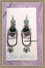 MIMI DEE HANDMADE Hammered Sterling Silver Earrings