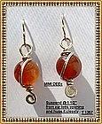 Carnelian Earrings 14K gf