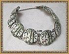 Vintage Signed Toshikane Japan Bracelet Silver Plate
