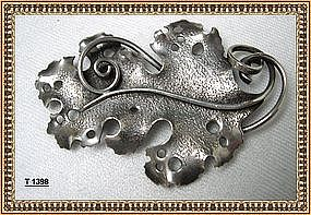 Vintage Signed Clifford Russell Sterling Silver Pin