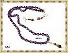 Faceted Amethyst Necklace Pendant Set Sterling