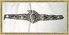 Vintage Persian Silver Bracelet Niello Shah Gift to
