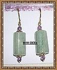 22K on Sterling Vermeil Aquamarine Amethyst Earrings