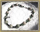 Signed Green Pink Nevada Lapis Ruby Zoisite Necklace