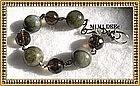 Signed MIMI DEE Sterling Silver Bracelet Smoky Quartz