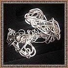 Signed Studio Sterling Silver Bracelet Cuff Sculpture