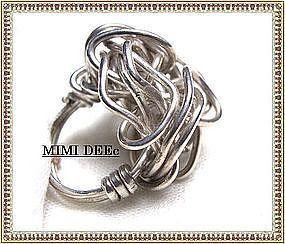 Signed Studio Sterling Silver Ring Metalwork Sculpture