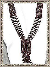 Antique Multi Beaded Sautoir Cut Steel Necklace