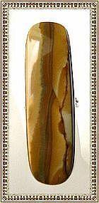Vintage Signed Sterling Silver Picture Jasper Ring Bold