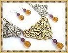 Big Bold Necklace Victorian Art Nouveau Style Bib Set
