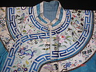 Antique chinese embroidered silk robe