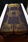Uncut antique Chinese silk brocade - Xia Pei w/ dragons