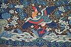 Antique Chinese embroidered silk surcoat rank badge KESI / Kossu, 19th