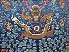 Antique Chinese Qing dragon silk robe tapestry - Details of embroidery