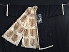 Antique Chinese embroidered silk Mandarin surcoat pufu, Peacock