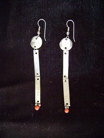 Kiowa German Silver Earrings