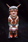 Rare Polychrome Wood Hopi Buffalo Dance Figure