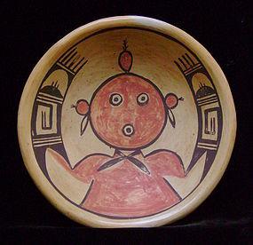 Unusual Hopi Mudhead Pottery Vessel