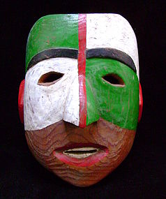 Haida Polychrome Cedar Mask