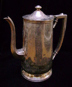 Fred Harvey Silver Coffee Pot & Creamer