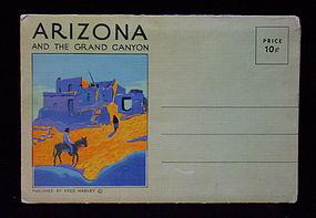 Fred Harvey Arizona Postcard Booklet