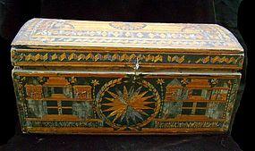 Rare Spanish Colonial Straw Encrusted Document Box