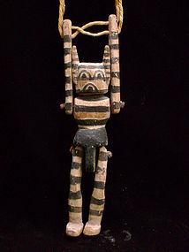 Rare Jimmie Kootz Hopi Kachina Puppet - Koshare
