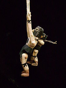 Rare Jimmie Kootz Hopi Kachina Puppet - Double Eagle