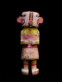 Hopi Wilson Tewaquaptewa Carved Wood Kachina Doll