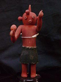 Hopi Polychrome Kachina doll Koyemsi The Mud Head Clown