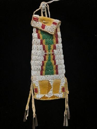 Cheyenne Beaded Hide Pouch