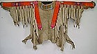 Mandan Quilled and Beaded Hide Shirt c. 1870