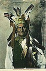 Early Chromolithograph Postcard of Geronimo 1908