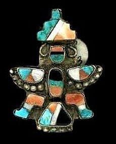 Zuni Knife Wing Pin c. 1920-1940