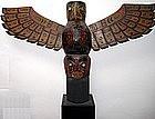 Kwakiutl Polychromed Wooden Totem c.1920