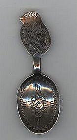 Rare Navajo Tea Caddy Spoon -- circa 1890