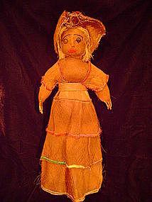 """""""Rare Seminole All Palmetto Female Doll c.1930-40"""""""