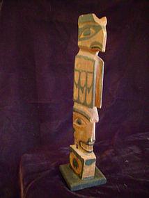 """Haida Model Totem Pole c.1890-1900"""